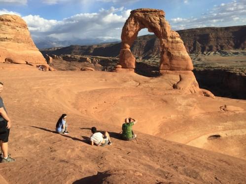 Delicate Arch et ses photographes, Moab