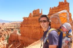 Emile au top à Bryce Canyon