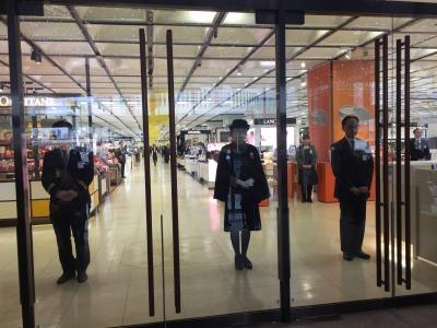 Centre commercial avant ouverture
