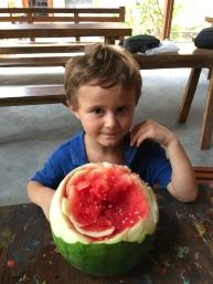 Maxime a aimé sa pastèque