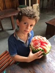 Georges, fier de ses fleurs