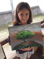 Candice et sa peinture