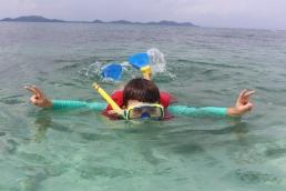 Georges snorkeling