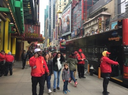 Un petit frenchie sur Times Square