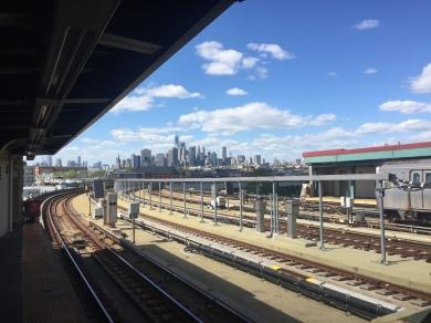 Vue du métro à Brooklyn